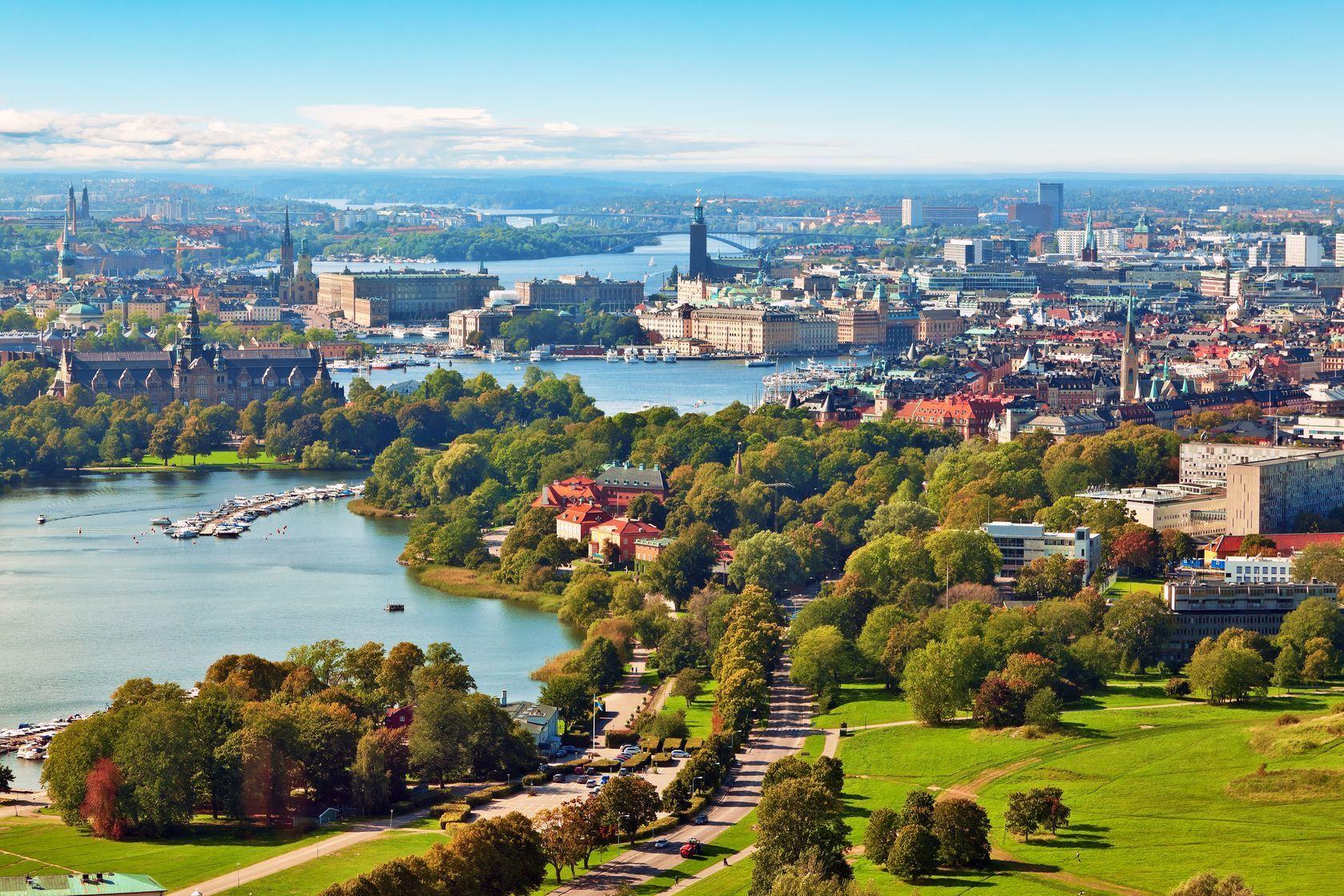 Letecké panorama Stockholmu ve Švédsku | scanrail/123RF.com
