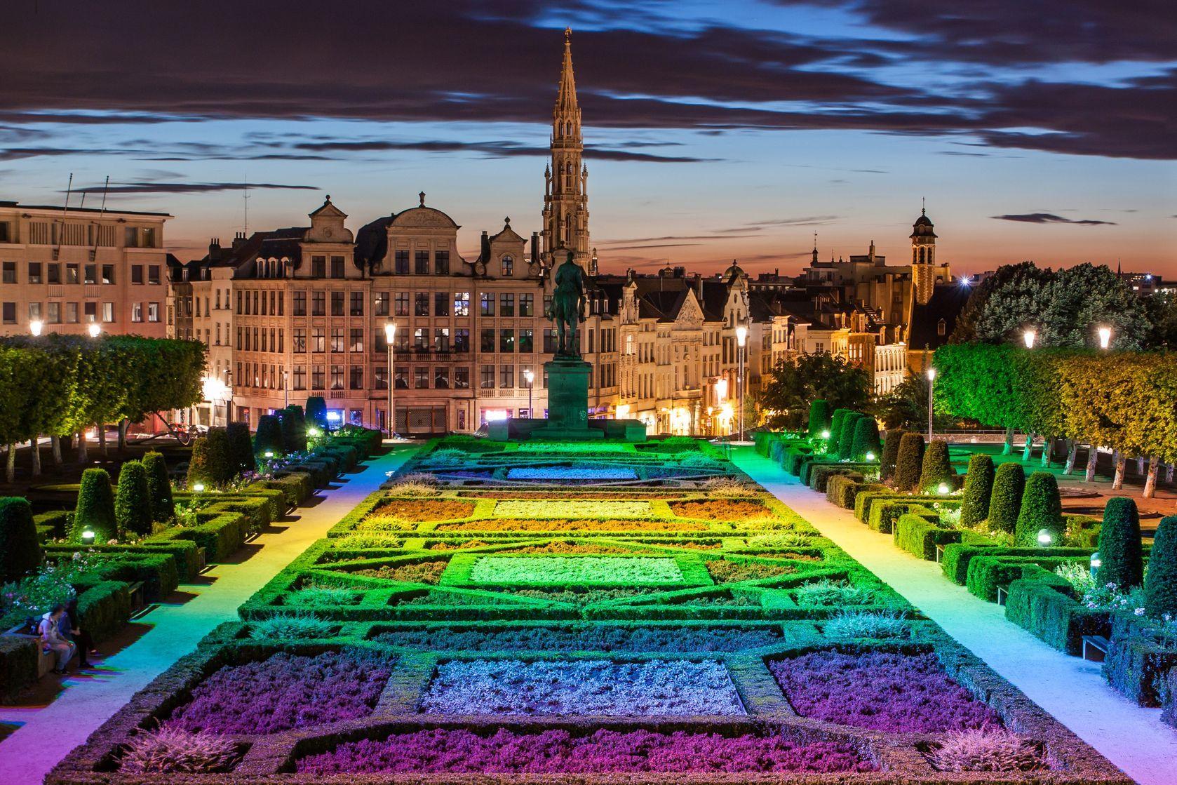 Panorama města z Bruselu od Monts des Arts   bukki88/123RF.com