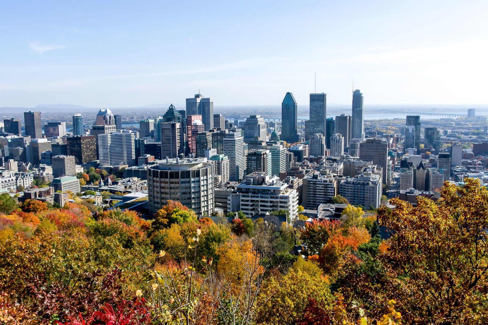 Výhled na Montreál během podzimu | denis0856/123RF.com